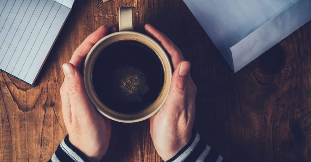 drinking coffee best practices holding coffee