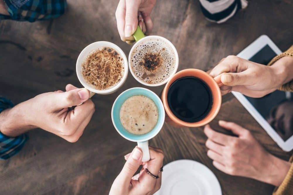 People Drinking Coffee in moderation Image