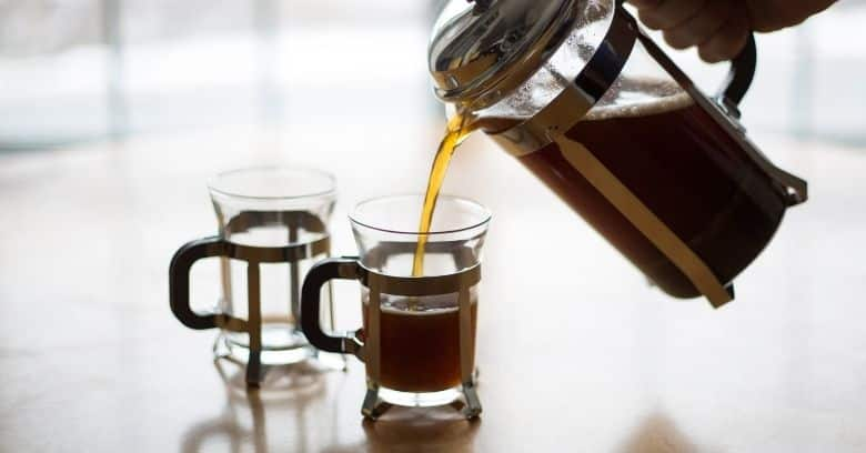 French press coffee serving Image