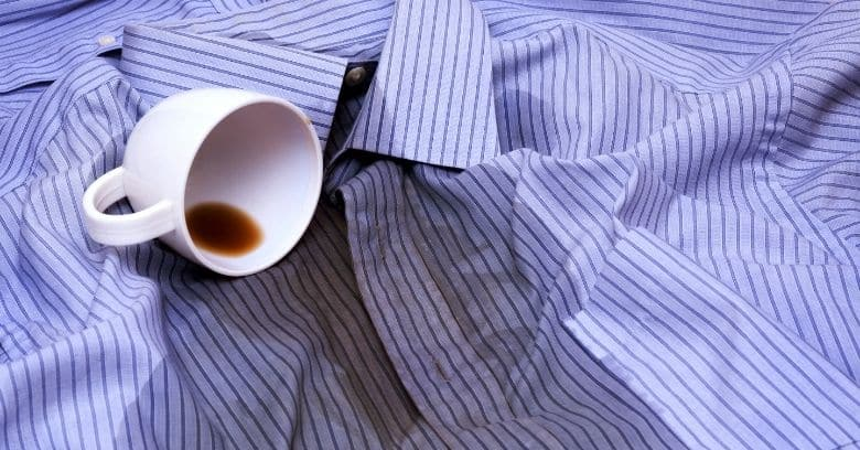 coffee stain on shirts